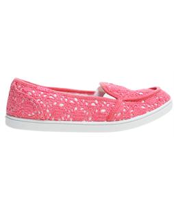 Roxy Lido Crochet Shoes Highlighter Pink