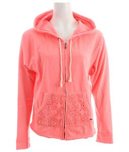 Roxy Neon Tide Hoodie Neon Coral