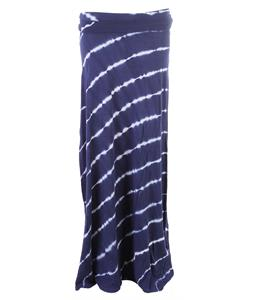 Roxy Ocean Treasure Wash Skirt Estate Blue Diagonal Stripe