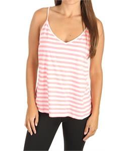Roxy Outside Sun Tank Neon Coral Stripe
