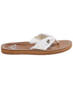 Roxy Palau Sandals White