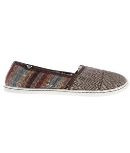 Roxy Pier Fur Shoes Chocolate/Multi