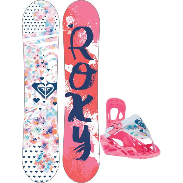 Roxy Poppy Snowboard w/ Poppy Speed Strap Bindings