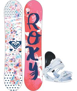 Roxy Poppy Snowboard w/ Poppy Traditional Bindings