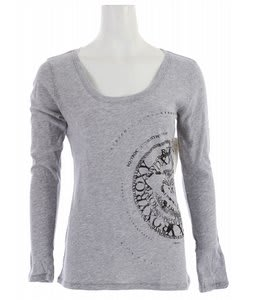 Roxy Round And Round T-Shirt Deep Water Blue