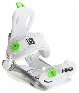 Roxy RX Fastec Snowboard Bindings White/Green
