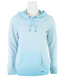 Roxy Saltwater Breeze Hoodie Baltic Blue Spray Wash Pattern