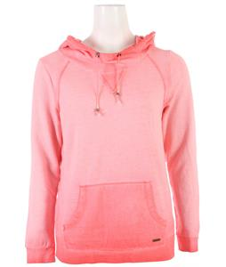 Roxy Saltwater Breeze Hoodie Glow Pink Spray Wash Pattern