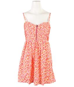Roxy Shore Thing Dress Spicy Orange Multi Geo Pattern