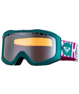 Roxy Sunset Goggles Transparent Green/Orange Chrome Lens