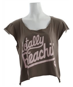 Roxy Totally Beachin' T-Shirt Army Brown