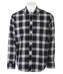 RVCA 17Th Street Plaid L/S Shirt Black