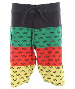 RVCA 4 Pete Trunk Boardshorts Green/Pine