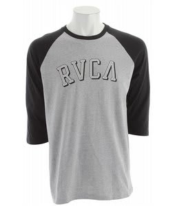 RVCA Barber Raglan Shirt Athletic Heather/Black