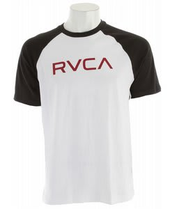 RVCA Big RVCA Raglan Shirt White/Black