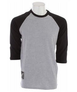 RVCA Crate Logo Raglan Athletic Heather/Black