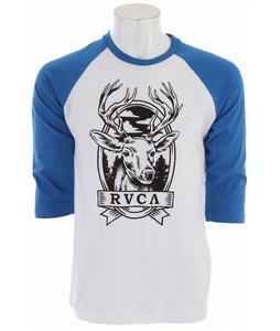 RVCA Deer Hand Raglan White/Royal