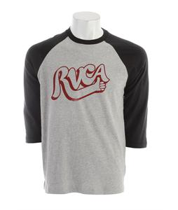 RVCA Good Job Raglan Athletic Heather/Black
