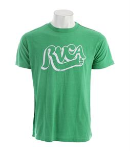 RVCA Good Job Vintage Dye T-Shirt Kelly Green