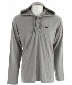 RVCA Liability Hood Henley Shirt Gray