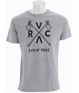 RVCA Livin Free 2 T-Shirt Athletic Heather
