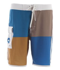 RVCA Quadro Boardshorts Ocean Blue