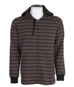 RVCA Rally Stripe Hoodie Black