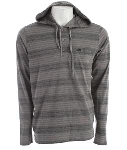 RVCA Russ Hood L/S Henley Grey Noise