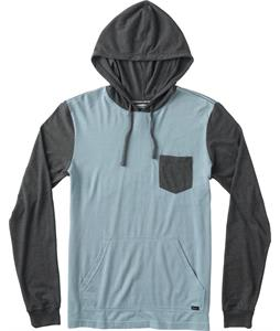 RVCA Set Up Hood Raglan Blue Gray
