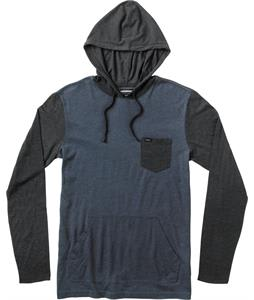 RVCA Set Up Hood Shirt Night Shadow Heather/Black