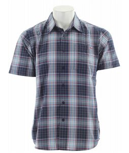 RVCA Spectrum Plaid S/S Shirt Docker Blue