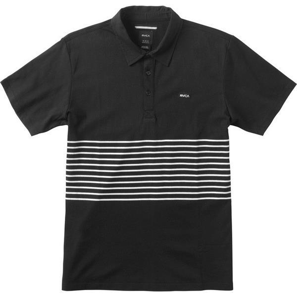 RVCA Sure Thing Striped Polo Shirt