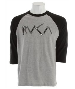 RVCA Switchblade Raglan Shirt Athletic Heather/Black