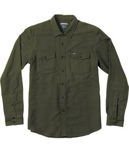 RVCA The Fuzz L/S Flannel Dark Military