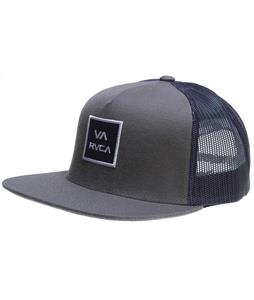 RVCA VA All The Way Trucker Cap Gray Blue