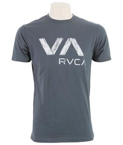 RVCA Wooden Standard T-Shirt Midnight