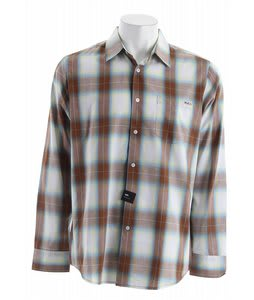 RVCA Woody Plaid L/S Shirt Brown Sugar