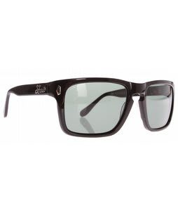 S4 Nickel Slots Sunglasses Shiny Black/G-15 Green Polarized Lens