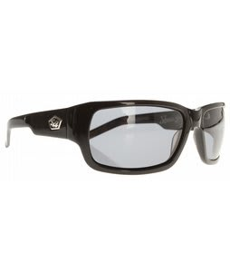 S4 Slice Sunglasses Shiny Black/Grey Polarized Lens