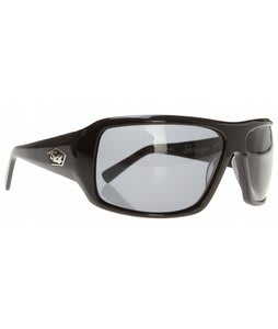 S4 Xander Sunglasses Shiny Black/Grey Polarized Lens