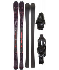 Salomon Origins Lava Skis Black/Red w/ L9 Bindings