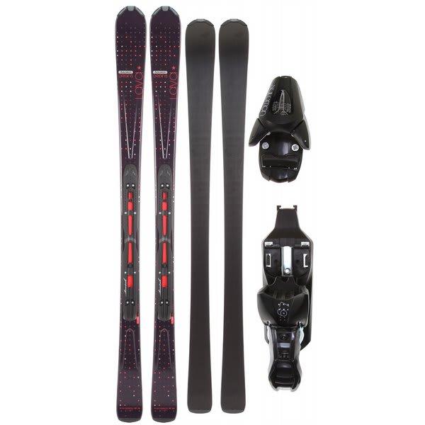 Salomon Origins Lava Skis Black/Red w/ L9 Bindings