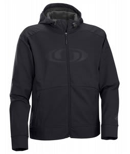 Salomon 900 Degrees Zip Softshell Hoodie Black Mens