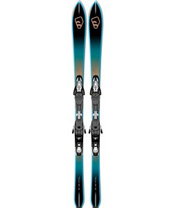 Salomon Bbr 7.5 Mens Skis Black/Blue/Brown w/ Z10 Bindings