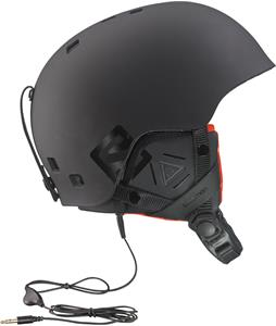 Salomon Brigade Audio Ski Helmet Black Matte/Orange