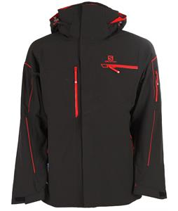 Salomon Brilliant Ski Jacket Black/Matador-X