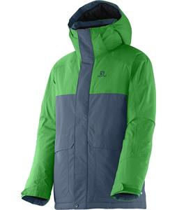Salomon Chillout Jr Jacket Bleu Gris/Bud Green