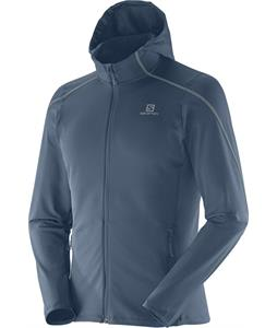 Salomon Discovery Hooded Midlayer Fleece Bleu Gris