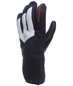 Salomon Element GTX Gloves White/Big Blue-X/Orange Glow