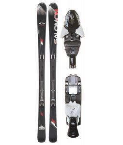 Salomon Enduro RX 800 Skis Black/Red w/ Z12 Bindings Black/White